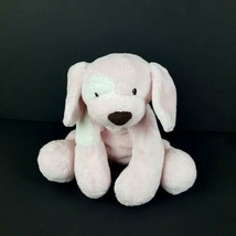 Baby Gund Plush Pink Spunky Dog Floppy Baby Toy Bean Bag Puppy Sewn Face... - $6.44