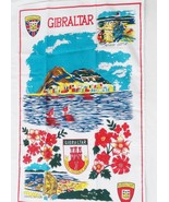 Tea Towel Gibraltar Souvenir Very Nice in Full Color 17x27 Gibraltarape - $14.84