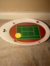 TENNIS  MATCHPOINT PLATTER / PLATE  LIFESTYLE HOME--RENEE NAKASH--FREE S... - $35.28