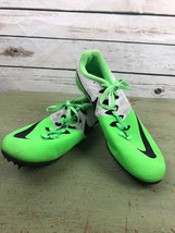 Nike Racing Rival S Sprint Track Shoes Mens Size 7 Lime Green Black White - $34.65
