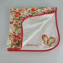 Vtg Gymboree 2008 Pink White Green Butterfly Spring Flower Blanket Flutt... - $98.99