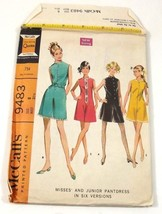 McCalls 9483 Sewing Pattern Vintage Misses Junior Pantdress size 8 Bust ... - $12.99
