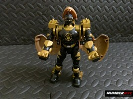 2003 Power Rangers Bandai Black and Gold Transformer head pops up chest opens - $17.81