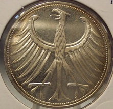 KM #112.1 1974-F Federal Republic of Germany Silver 5 Mark Coin #0801 - $13.99