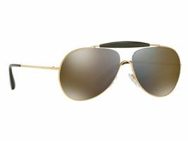 New Prada Gold Aviator Sunglasses SPR56S 59-13 5AK-4L0 140 3N Made In Italy P25 - $120.93