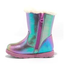 Cat & Jack Girls Katrina Toddler Faux Fur Shearling Tall Purple Winter Boots NWT image 2