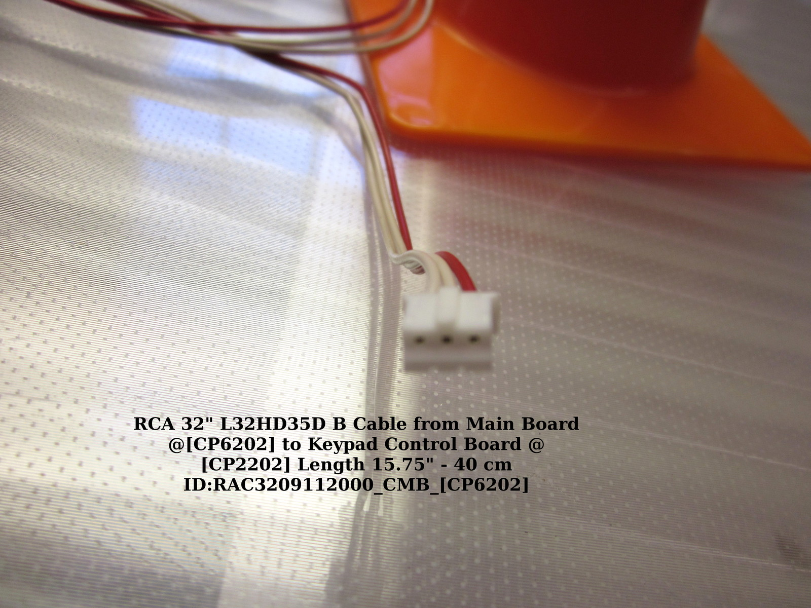 "RCA 32"" L32HD35D B Cable from Main Board @[CP6202] to Keypad Control Board"
