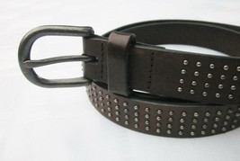 GAP LEATHER BELT COW HIDE with STUDS Womens Small Medium HOLIDAY 2010 DA... - $9.49