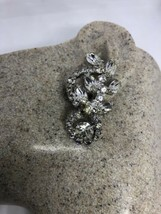 Vintage Long 1960s Clear Austrian Crystal Rhinestone Chandelier Clip On ... - $64.35