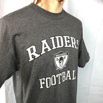 Raiders Football NFL Team Apparel L T-Shirt Large Mens Oakland or Los Angeles image 3