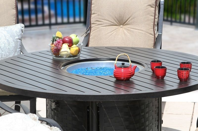 """OUTDOOR PATIO 60"""" ROUND DINING FIRE TABLE - SERIES 4000"""