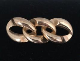 VTG Cross Gold Tone Chain Link Brooch Pin Germany 1964 - $13.06