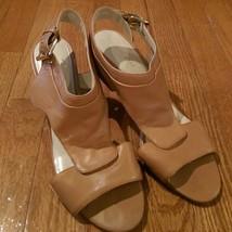 Nine West - Tan Open Toe and Open Back Heels - Size 8.5 - $19.99
