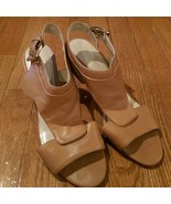 Nine West - Tan Open Toe and Open Back Heels - Size 8.5 - $19.99