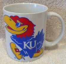 KU Kansas University Jayhawks Vintage Coffee Mug Cup NCAA Basketball Ch... - $8.98
