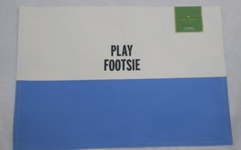 Kate Spade  Food For Thought Placemat Play Footsie Blue Cornflower NEW N... - $14.28