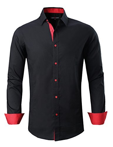 joey cv mens casual button down shirts long sleeve regular