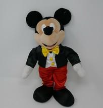"Disney On Ice Tuxedo Mickey Mouse 14"" Standing Plush Stuffed Toy - $15.88"