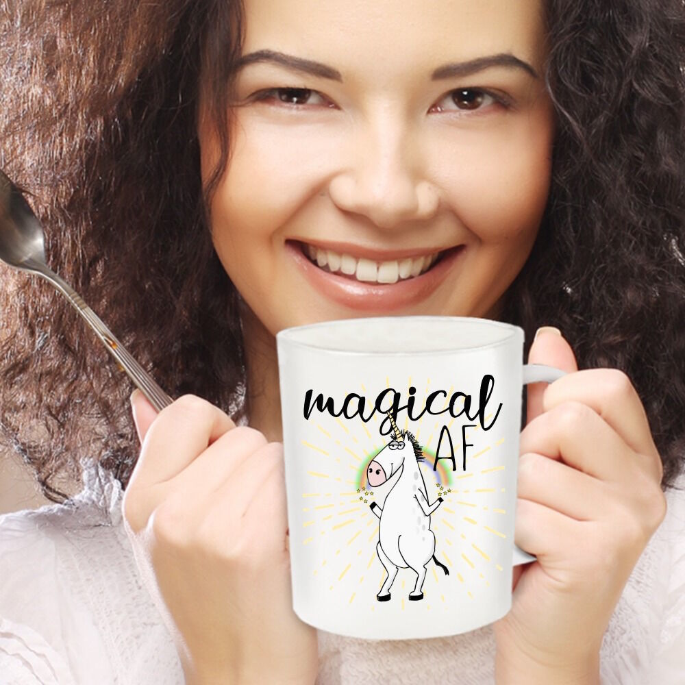 Magical AF Mug Unicorn Funny Rude Gift for Her Mom Coworker Coffee Cup Ceramic image 3