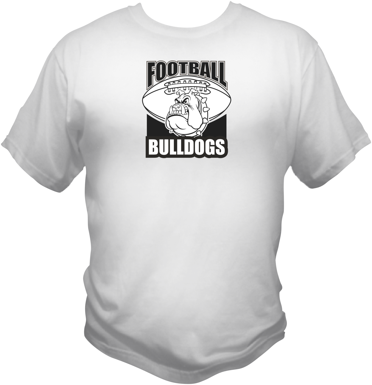 Football bulldogs white