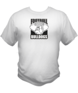 Bulldogs Football Team Sports Style Graphic T Shirt Black Red White L XL... - $19.99