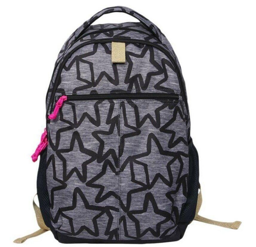 "Brand New Cat & Jack 18"" Kids' Backpack - Black/Grey Star"