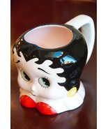 "BETTY BOOP SHAPED MUG VANDOR 1995 KING FEATURES 3.75"" H CERAMIC USED FOR... - $24.75"