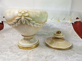 "VINTAGE Porcelain Biscuit Candy Pot Jar Urn Covered Vase 7 3/4"" Tall x 6 1/4"" image 3"