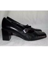 Etienne Aigner Black Leather MARY JANE Heels 6.5M For Women Used - $39.59