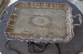 Vintage Sheridan Silver Company Electric Heated Footed Silver Plate Serv... - $79.19