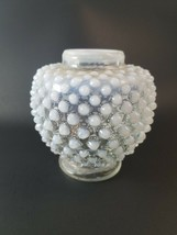 "Vintage Fenton Hobnail White French Opalescent Vase: 4.5""H x 4.5""W - $21.24"