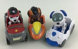 Paw Patrol Rescue Racers 6pc Lot Spin Master Robo Dog Zuma Marshall Cars Toys - $34.60