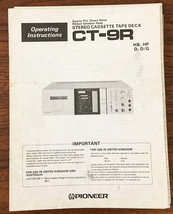 Pioneer CT-9R Stereo Cassette Tape Owners Manual *Original* - $26.98