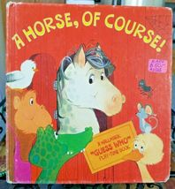 A Horse, Of Course! Hallmark 'Guess Who' Play-Time Book by Barbara Kunz ... - $34.65
