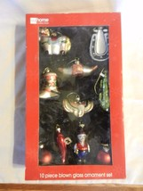 10 Western Style Blown Glass Christmas Ornaments. JCPenney Home Collection - $27.71