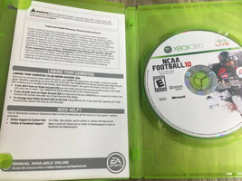 NCAA Football 10 (Microsoft Xbox 360, 2009) Scratched - $10.89