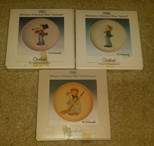 Goebel Miniature Authentic Collectors Plate 3 Set - $24.00