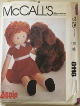 "McCall's 8118 or 621 Stuffed 36"" Annie Doll & H... - $9.99"