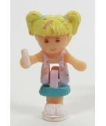1992 Vintage Lot Polly Pocket Doll Stampin' School - Tiny Tina Bluebird ... - $7.00