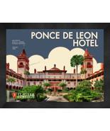 """Flagler College """"Ponce De Leon Hotel"""" 13x16 Art Deco Framed Print  - $39.95"""