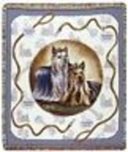 """YORKIE Yorkshire Terrier Tapestry Throw Blanket Dogs 50x60"""" Made in USA New - $54.44"""