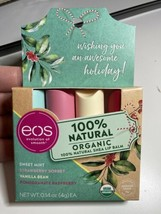 EOS Holiday Set Super Soft Shea Lip Balm 4 Pack Mint/Strawberry/Vanilla/... - $12.36