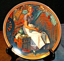 """""""Dreaming in the Attic"""" by Norman Rockwell Plate with Knowles Box AA20-CP2222 Vi"""