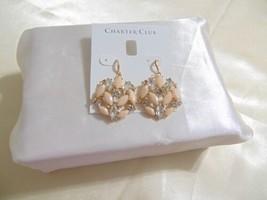 Charter Club Gold-Tone Crystal & Pink Stone Drop Earrings B702 $29 - $10.55