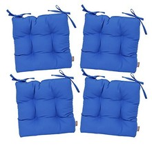 RSH Décor Set of 4 - Indoor/Outdoor Sunbrella Canvas Capri Blue Tufted ... - $279.99