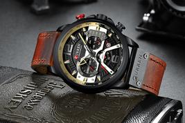 CURREN 8329 Quartz Watch Business Men Simple Sport-Wristwatch Three Sub-Dials Ca - $45.55