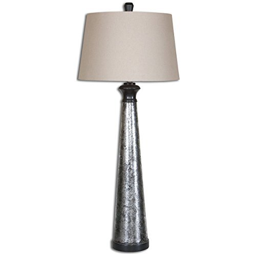 Uttermost 26214 Mustapha Table Lamp, Distressed Silver