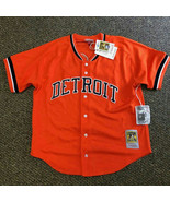 MITCHELL & NESS MLB Detroit Tigers #23 Gibson Button Down Mesh Jersey NW... - $82.29
