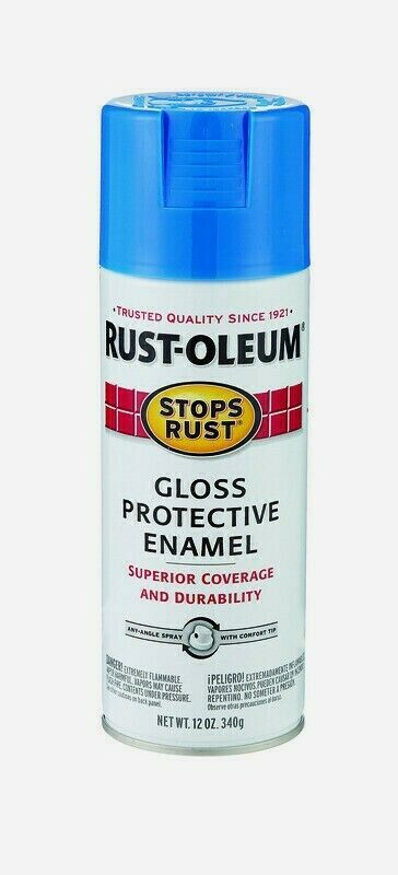 Primary image for Rust-Oleum Stops Rust SAIL BLUE 12 oz Spray GLOSS Protective Enamel 7724-830 NEW