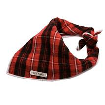 Lily Anne Boutique Red Plaid Dog Bandana / Red Tartan Dog Bandana / 100% Cotton - $14.99